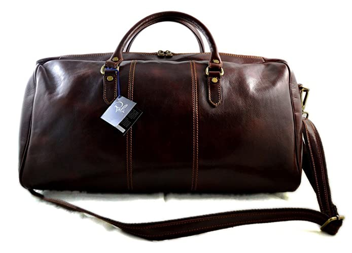 Leather duffle bag genuine leather shoulder bag brown mens ladies travel  bag gym bag luggage made in Italy weekender duffle overnight bag women s  duffle bag e87b45959