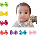 DUOPHY Infant Baby Girls Hair Bows Clips Hairpin Barrettes Set Of 20 Colors