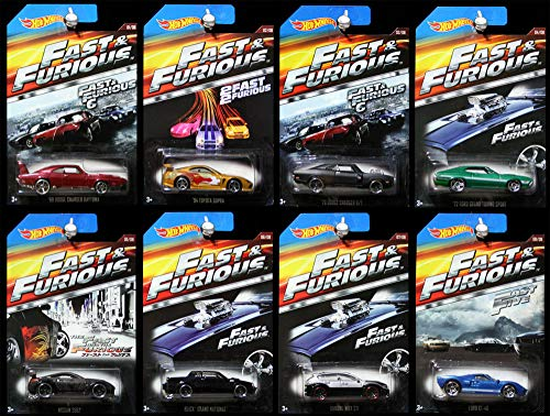 Hot Wheels Fast and The Furious Fast & Furious 2015 8-Car Set