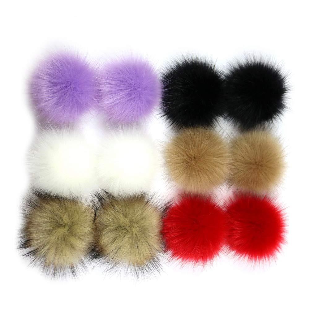 SUPVOX Fluffy Pompon Palla Faux Pelliccia di Volpe per Cappelli Berretti  Scarpe Sciarpe Borsa Accessori Charms  Amazon.it  Casa e cucina d92d3e8653f2