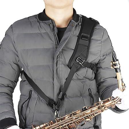 Formulaone Arnés Ajustable Profesional Hombro Negro Saxo Saxofón ...