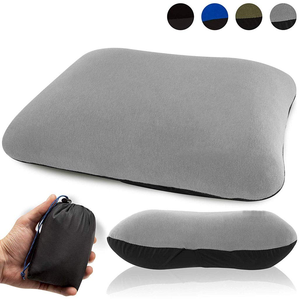 CGH Inflatable Camping Travel Pillow Ultralight - Best Compact Backpacking Pillow - Portable Air Pillow for Backpack Camp Exped Travelling Hiking Survival Sleeping - Lightweight Inflating Blow Up Pill by CGH