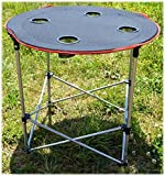IIT 35900 Round Folding Camping Table For Outdoor