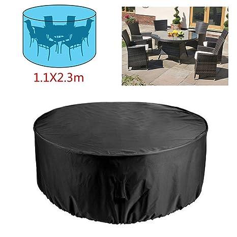 Rayinblue Housse de protection ronde pour mobilier de jardin ...