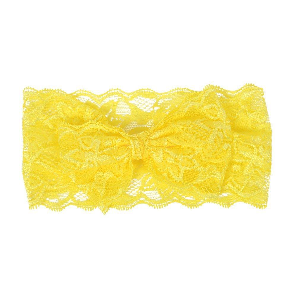 EXIU 6PCS B/éb/és filles Bandeau Cheveux bambins Dentelle Arcs Fleurs Band Accessoires