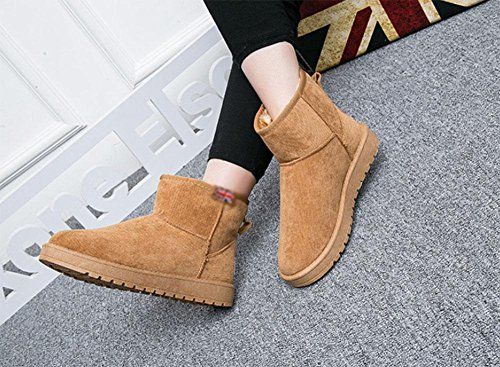 Versión Antideslizantes Tubo Corto 4 De Mujer Meili Cachemir Cálidas Planas Además Botas Cortas Zapatos Nieve Algodón Coreana W7wz8wxRqv