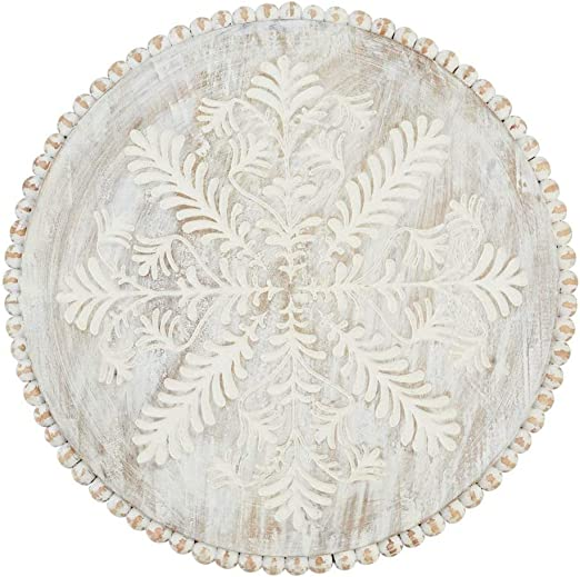 Amazon Com Mud Pie Carved And Beaded Lazy Susan