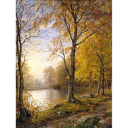 PAINTING LANDSCAPE RICHARDS INDIAN SUMMER LARGE REPLICA POSTER PRINT PAM2111