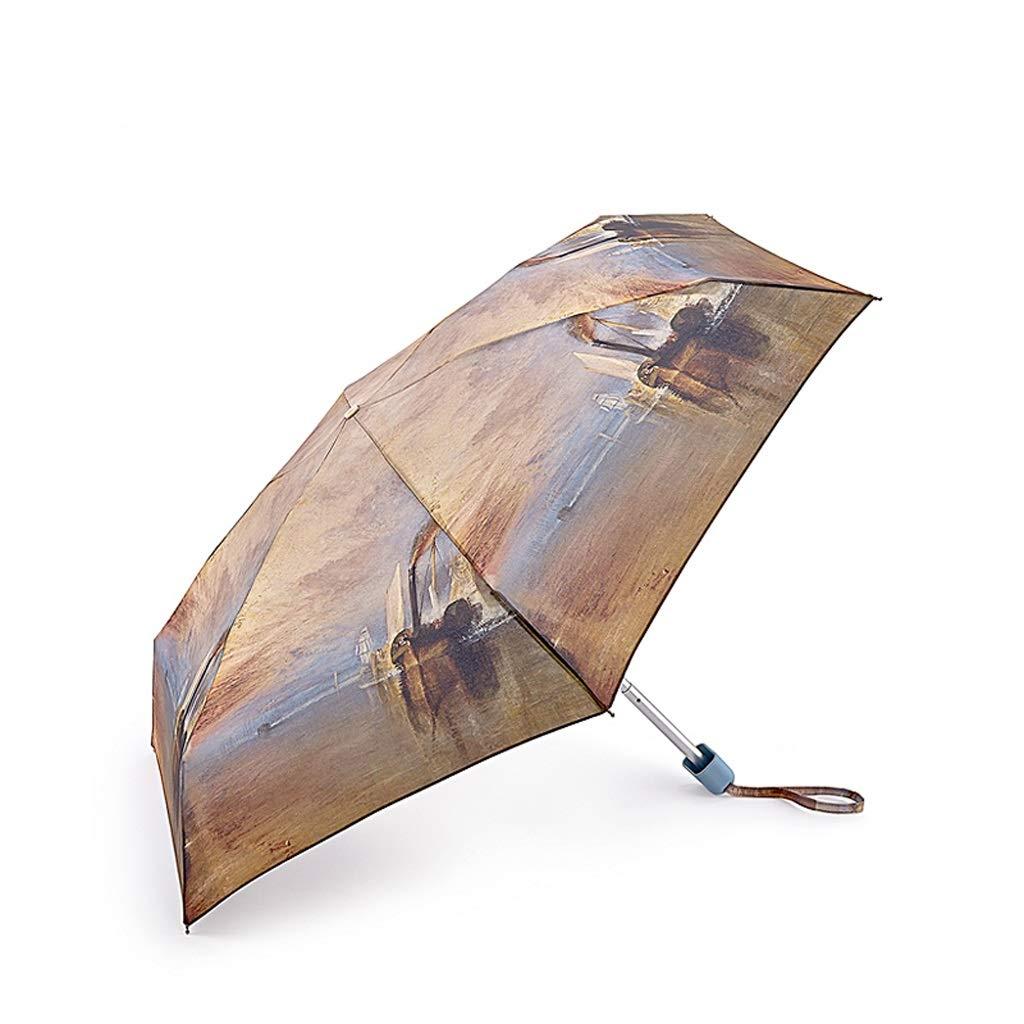 JSSFQK Household Umbrella Pocket Umbrella Folding Umbrella Mini Quick Dry Umbrella Rain and Rain Umbrella Umbrella