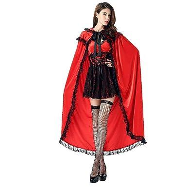 Z&S Disfraz de Halloween para Mujer Anime Caperucita Roja Cosplay ...