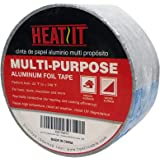HEATIT Aluminum Foil Tape Professional Grade 2 inch x 30 feet (10yard Length) Thick 5.3mil (2.4mil foil and 2.9mil Backing Pa
