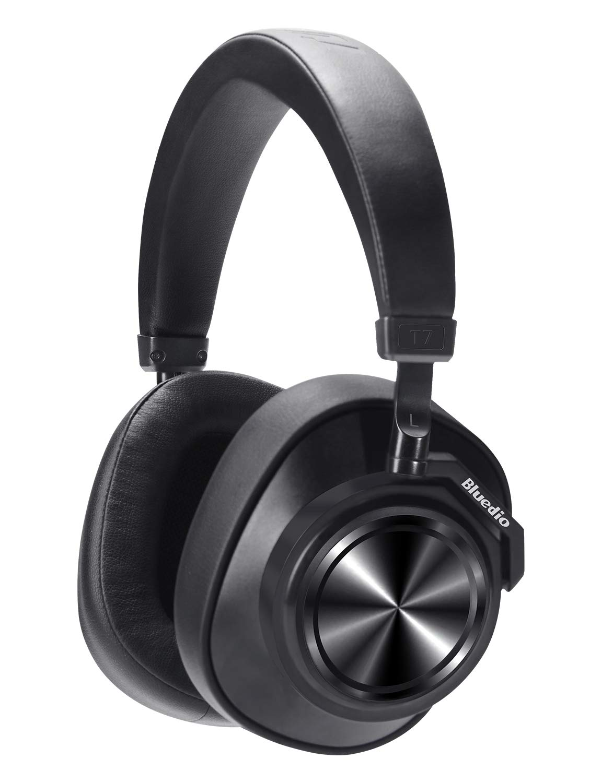 Bluetooth Over Ear Headphones, Bluedio T7 Turbine Custom Active Noise Canceling Headphone 57mm Driver Hi-Fi Stereo & 30Hrs Playtime, Wireless Headsets ...