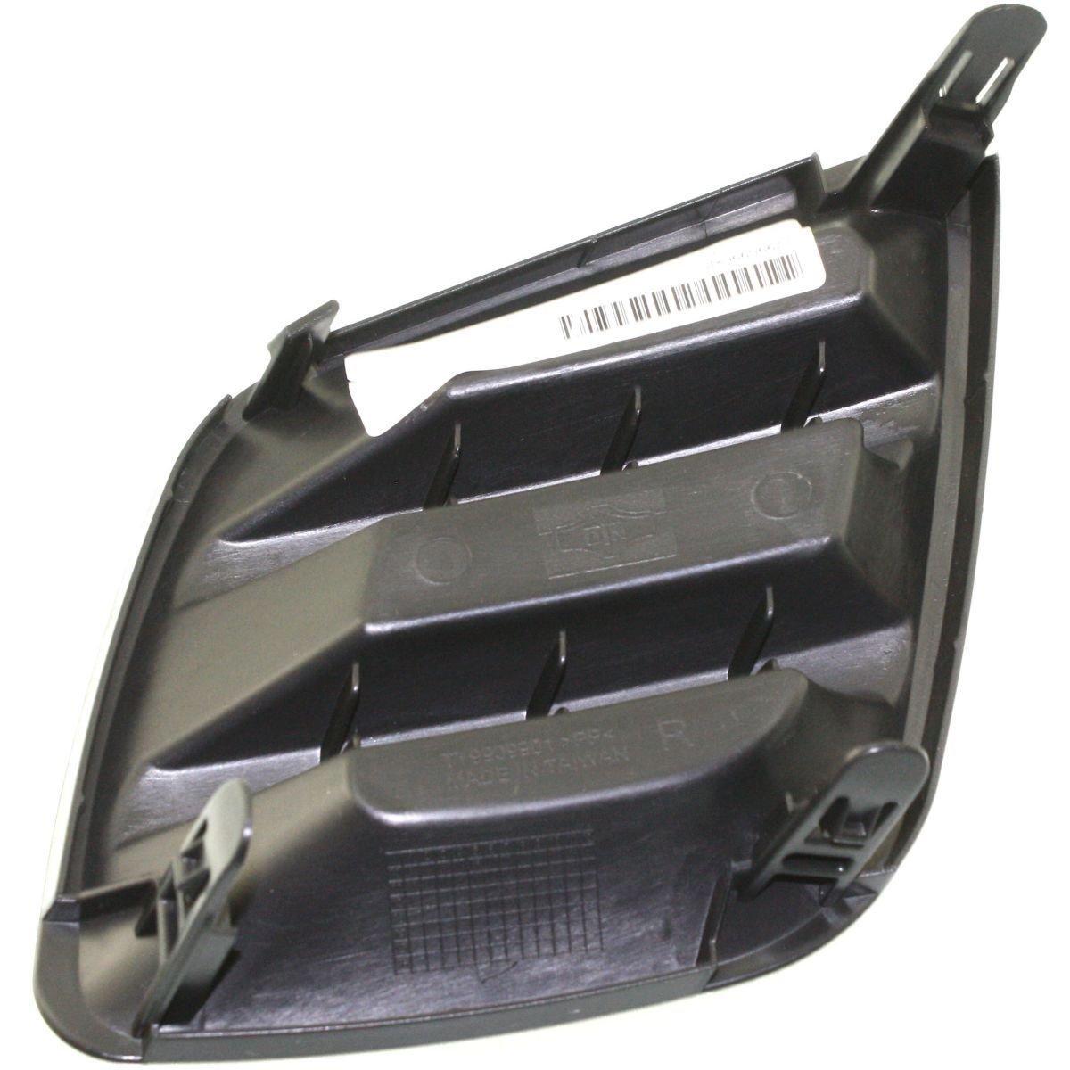 DAT 09-12 TOYOTA RAV4 FOR BASE AND SPORT MODELS BLACK FOG LAMP COVER RIGHT PASSENGER SIDE TO1039127