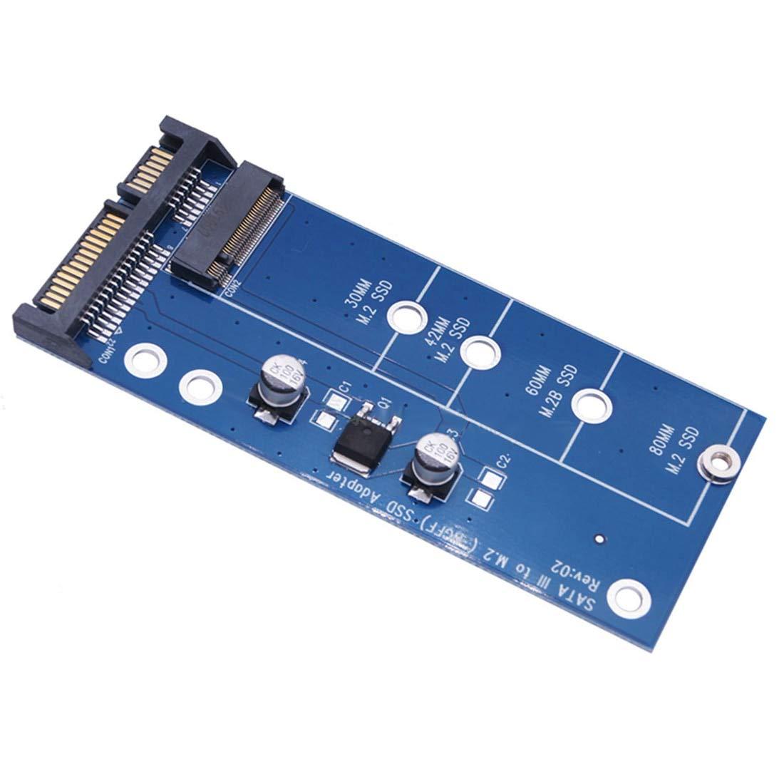 JMT Tarjeta adaptadora de edición Azul M2 NGFF SSD SATA3 SSDs a ...