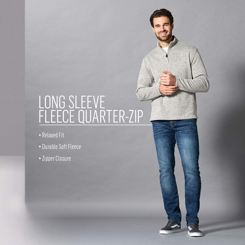 Wrangler Authentics Men's Sweater Fleece Quarter-Zip at  Men's Clothing store