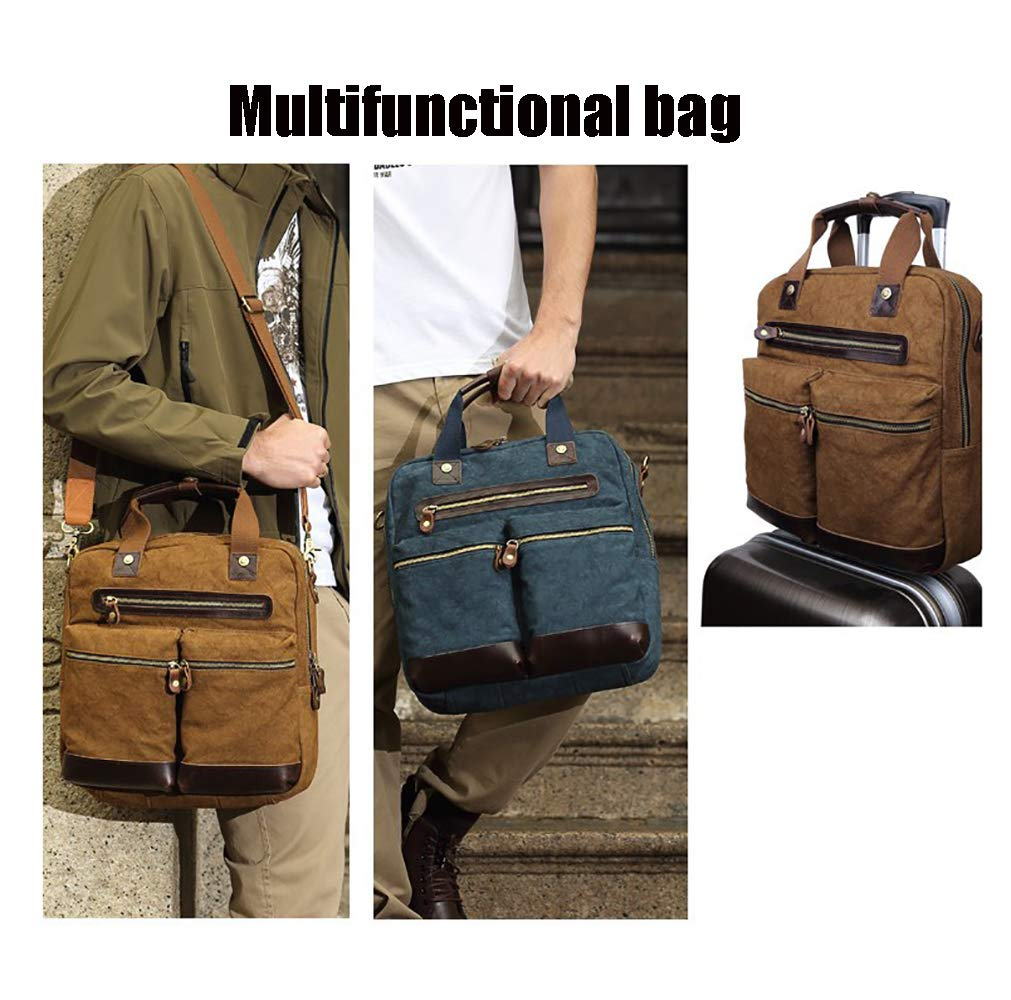 14 Laptop Bag AHDA Mens Tote Canvas Simple Fashion Briefcase