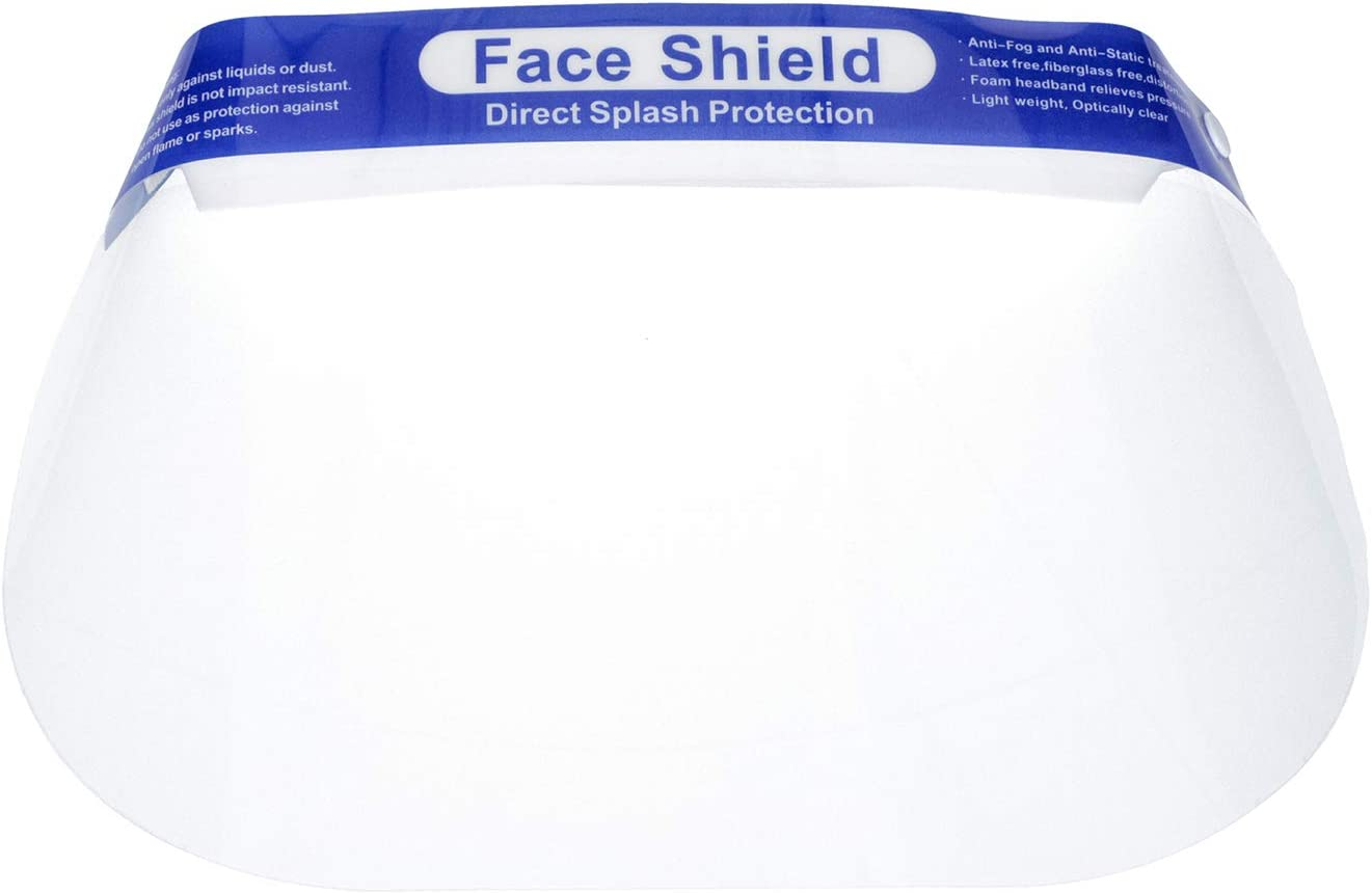 10pc Safety Shield Reusable Full FaceShield Clear Washable Face Mask Anti-Splash