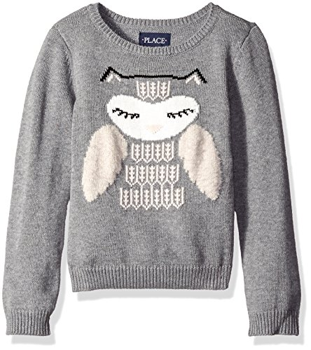The Children's Place Girls' Little Girls' Intarsia Set in Sweater, Heather Grey, Small/5/6