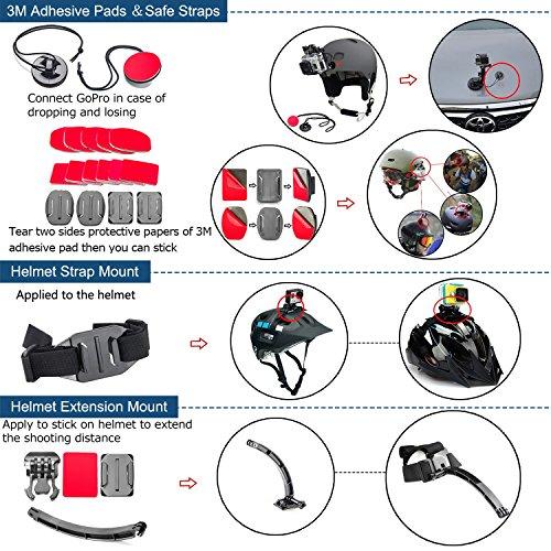 BAXIA-TECHNOLOGY-38-in-1-Accessories-for-GoPro-HERO-5-Session-4-3-3-2-1-Black-Silver-SJ400050006000-Sports-Camera-Accessories-for-Xiaomi-Yi-AKASO-WiMiUS-Lightdow-DBPOWER-APEMAN-Aokon-ANART
