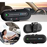 BlueInk™ Portable Multipoint Wireless Bluetooth Hands-Free Speakerphone Car Bluetooth Kit With Hands-Free Sun Visor Magnetic Clip (Black)