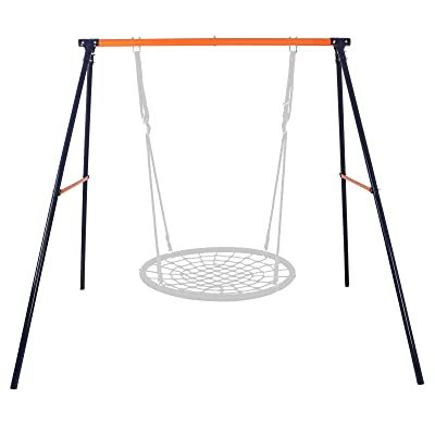"""SUPER DEAL Extra Large Heavy Duty All-Steel All Weather A-Frame Swing Frame Set Metal Swing Stand, 72"""" Height 87"""" Length, Fits for Most Swings, Fun for Kids (Swing Frame): Toys & Games"""