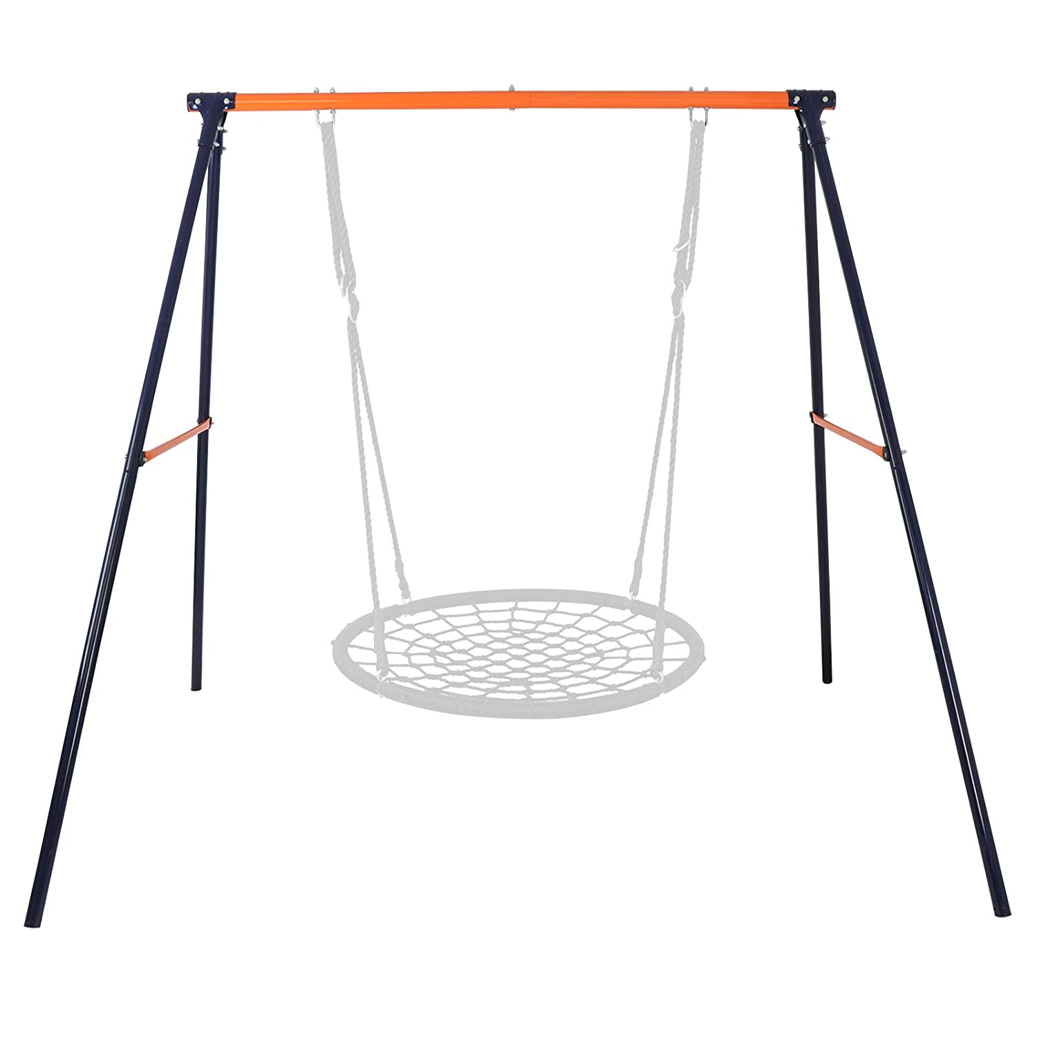 """SUPER DEAL Extra Large Heavy Duty All-Steel All Weather A-Frame Swing Frame Set Metal Swing Stand, 72"""" Height 87"""" Length, Fits for Most Swings, Fun for Kids"""