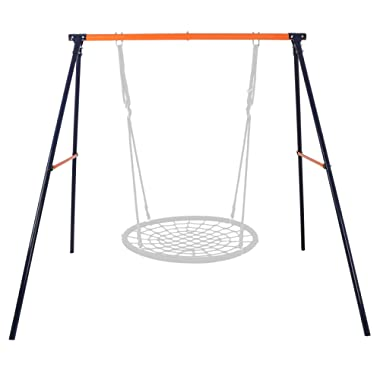 SUPER DEAL Extra Large Heavy Duty All-Steel All Weather A-Frame Swing Frame Set Metal Swing Stand, 72  Height 87  Length, Fits for Most Swings, Fun for Kids