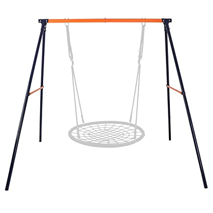 Amazon Com Zeny Kids Outdoor A Frame Swing Set Heavy Duty Swing