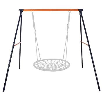 Amazon Com Zeny Kids Outdoor A Frame Swing Set Heavy Duty Swing