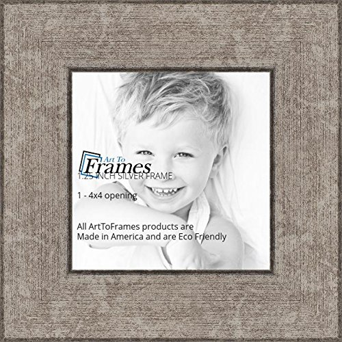 Amazon.com - ArtToFrames 4x4 inch Silver Style Picture Frame ...