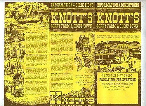 1965 Knott's Berry Farm Brochure + 3 Post Cards + Train Ticket Buena Park