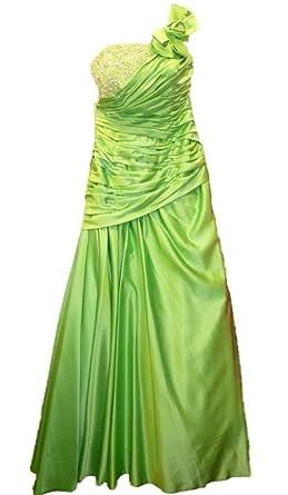 Sale 80% Off Amanda Wyatt DQ 2165 Apple Green Satin Prom Dress UK8 rrp £
