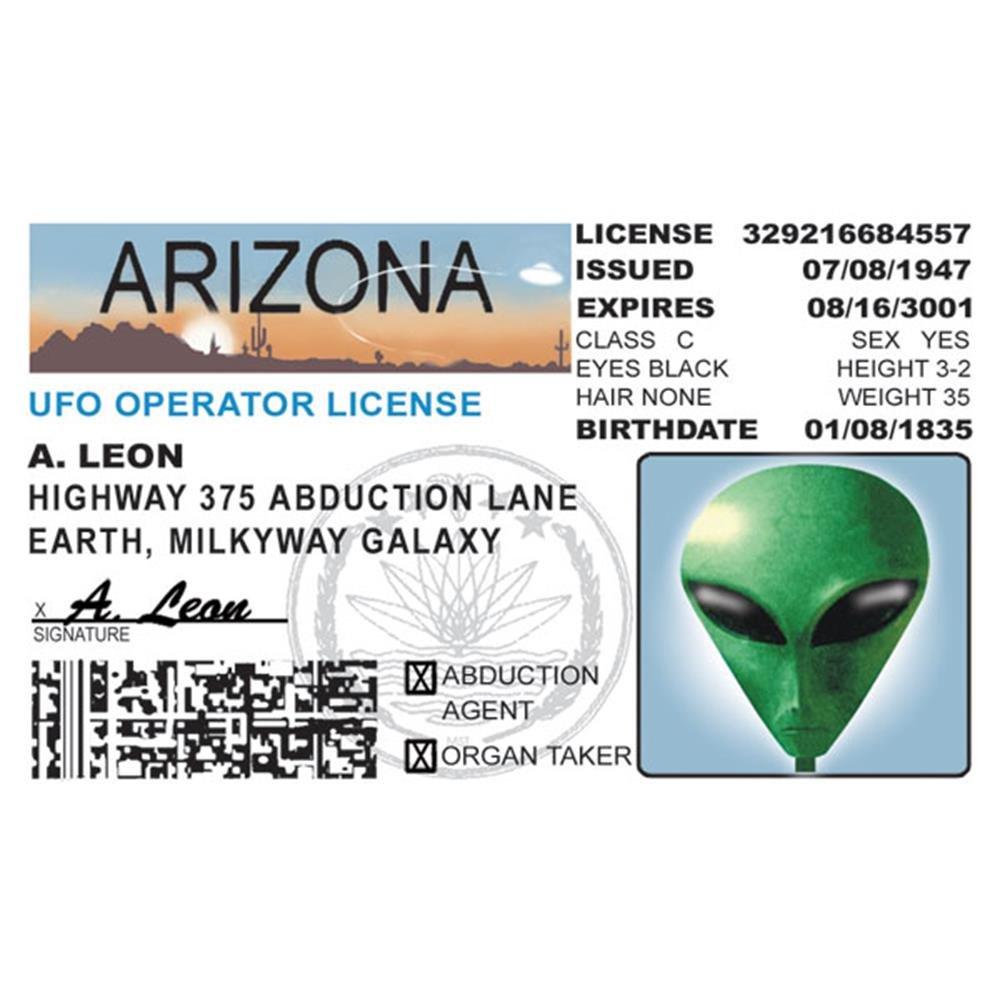 amazon com signs 4 fun niida az alien u0027s driver u0027s license home