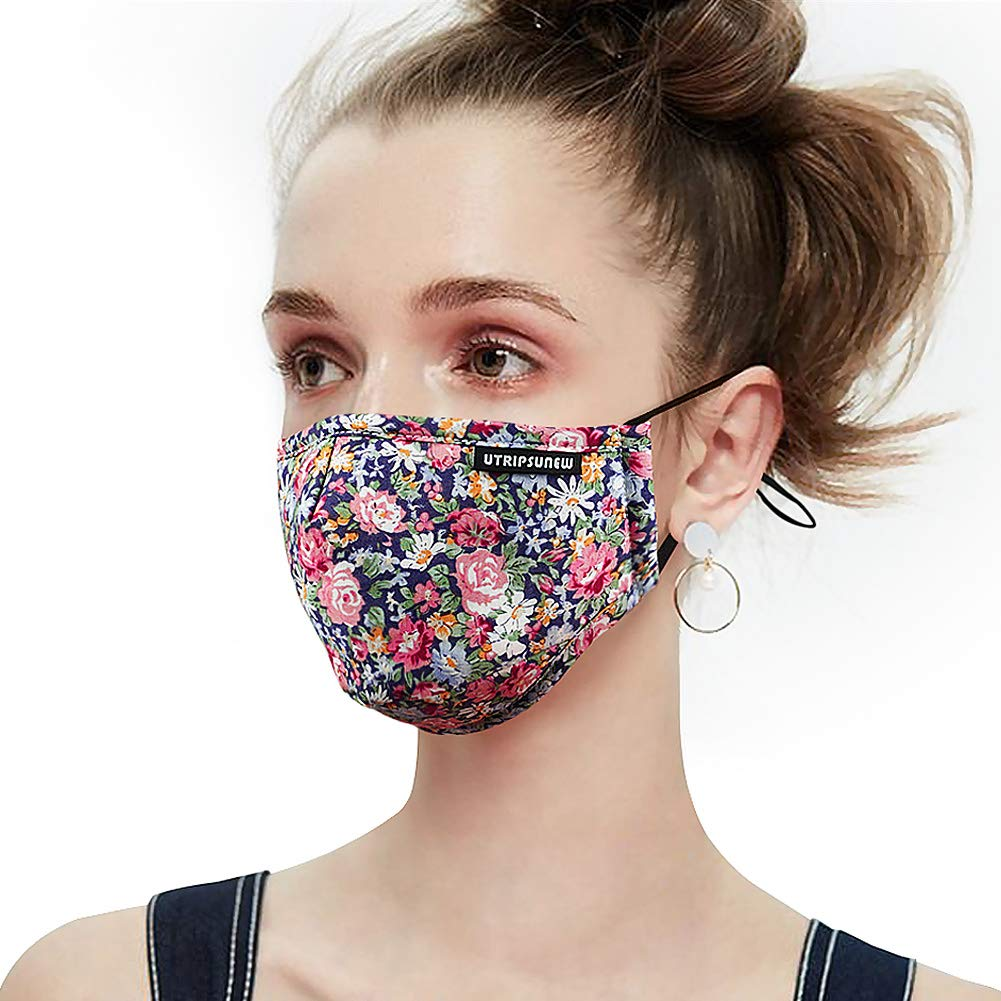 Anti Pollution Dust Mask Washable and Reusable PM2.5 Cotton Face Mouth Mask Protection from Flu Germ Pollen Allergy Respirator Mask by UTRIPSUNEW