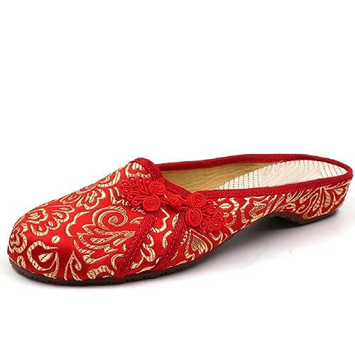 Lazutom - Zapatillas para mujer, color rojo, talla 40 EU