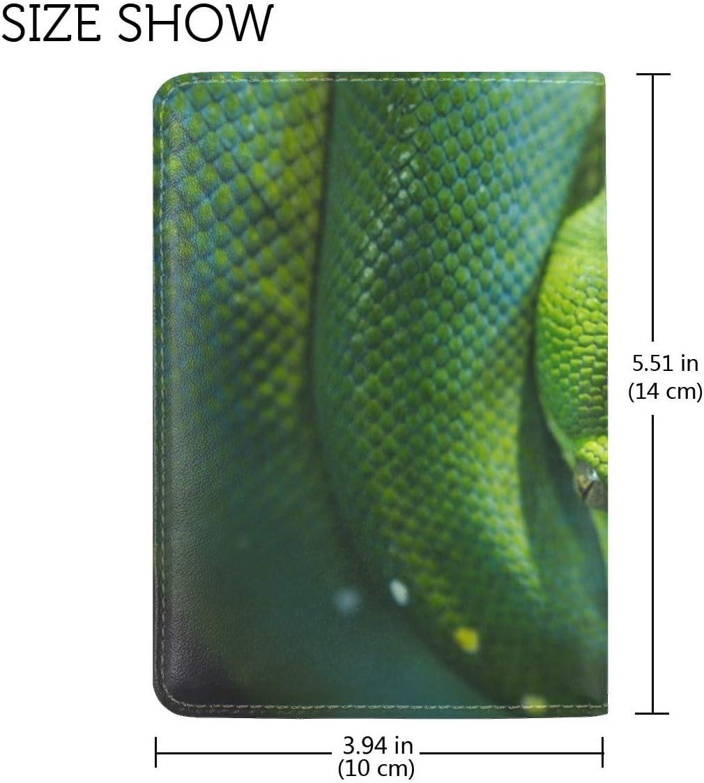Snake Reptile Wildlife Leather Passport Holder Cover Case Travel One Pocket