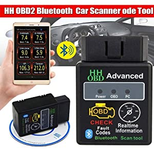 Simply Silver - New OBD2 ELM327 HH Bluetooth V2.1 Car Engine Fault Code Scanner Android Torque App