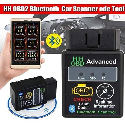 Amazon.com: Simply Silver - New OBD2 ELM327 HH Bluetooth V2.1 Car ...