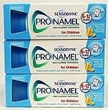 3 Packs of Sensodyne Pronamel Children Daily Fluoride Toothpaste