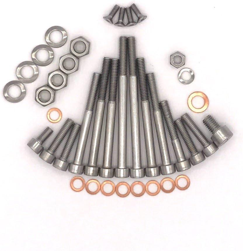 MZ ES 175//1 Motor Schrauben Satz Zylinderschrauben mit Innensechskant aus Edelstahl V2A 38 teilig