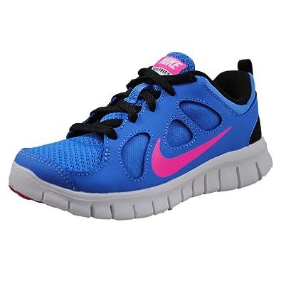 Girls Nike Pre School Free 50 Running Shoe Distance Blue Black