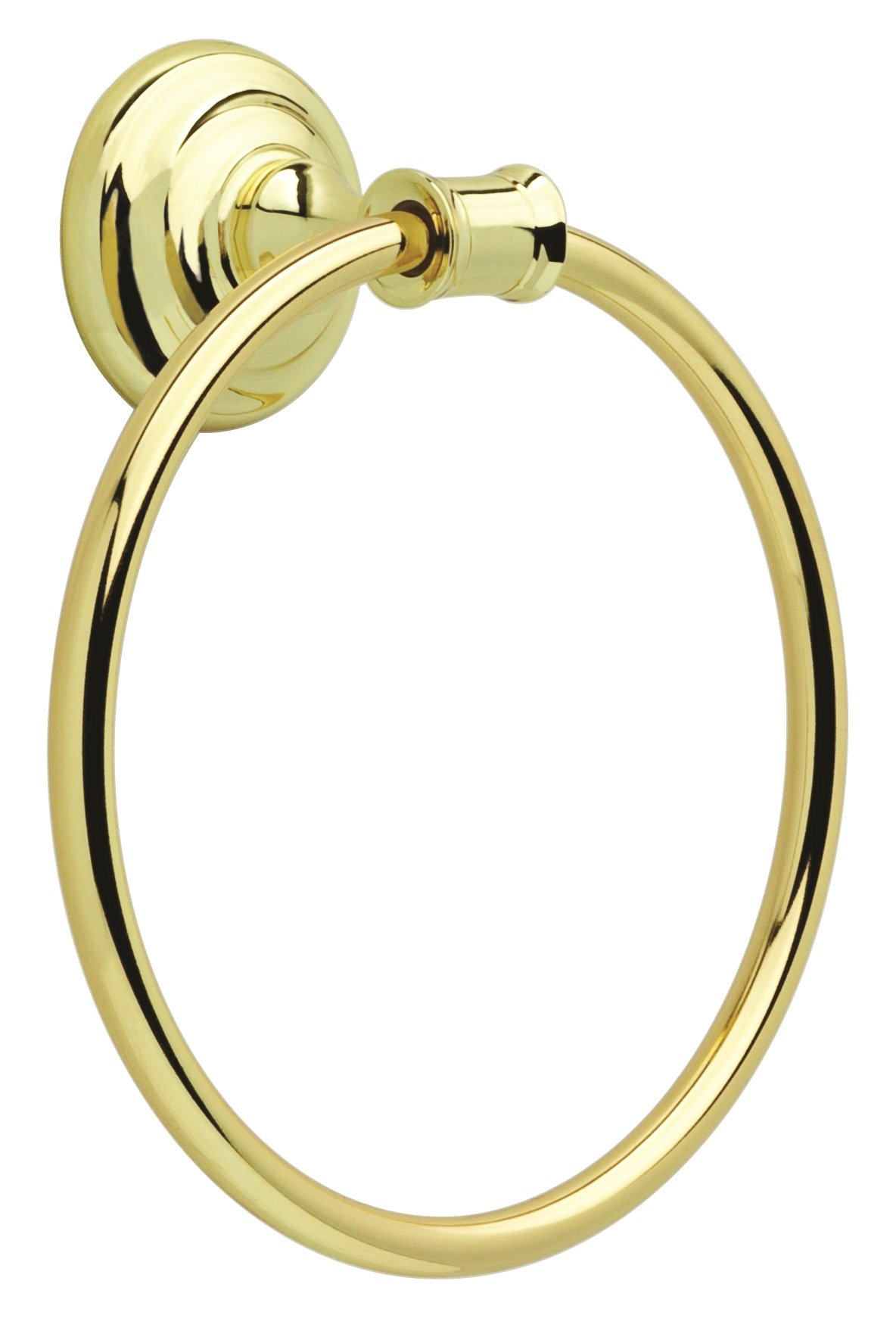 Delta Faucet OAK46-PB Oakley Bath Hardware Accessory Towel Ring, Polished Brass