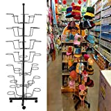 Dtemple 7-Tier 35 Hat Cap Rack/Metal Hat Display Stand Rotating Stand Hanger Rack Organizer