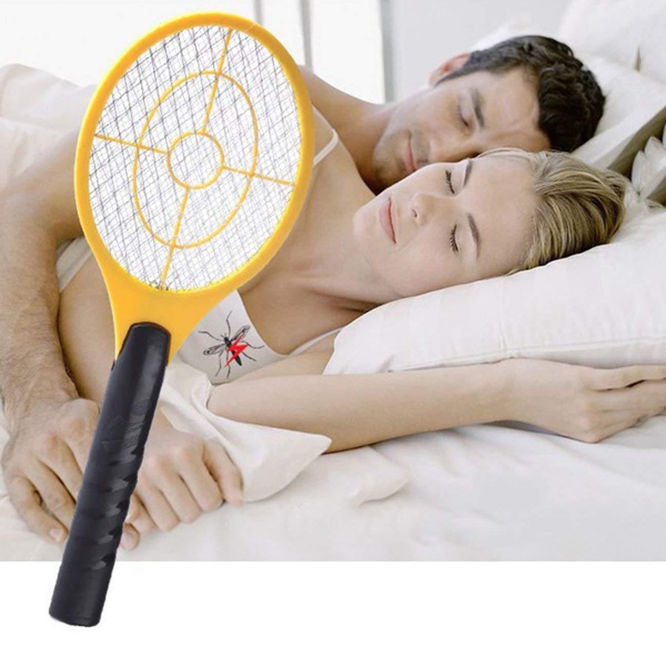 MachinYesell Multifonctionnel Double Cercle Conception De Poche /Électrique De Raquette De Tennis /Électrique /À Batterie /Électrique Moustique Swatter