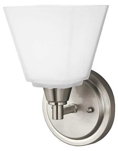Parkfield one light wallbath sconce in brushed nickel with etched parkfield one light wallbath sconce in brushed nickel with etched glass paint aloadofball Images