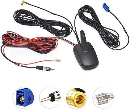 Eightwood Dab+ GPS Antena automóvil Fakra C a DIN a SMB Radio ...