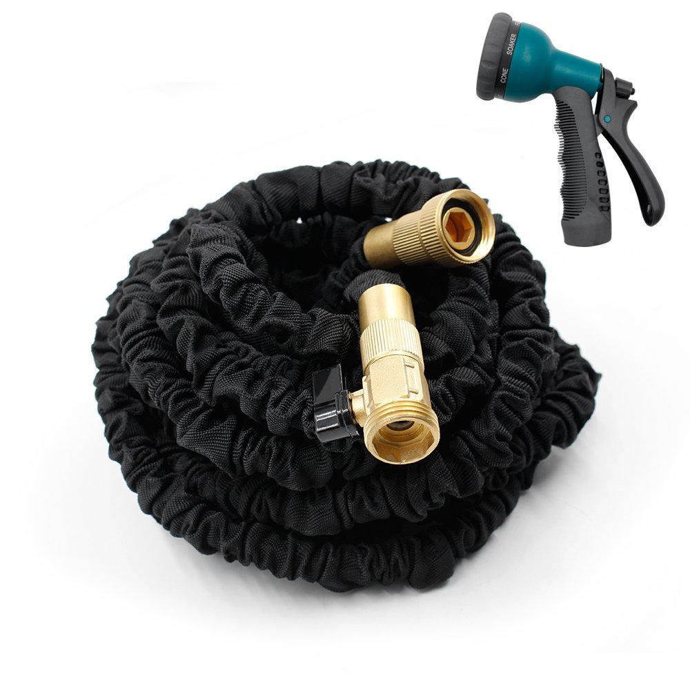 Bear Outdoor 2017 New Design,Garden Hose Brass,Expandable Collapsible Expanding Hose,Solid Brass Connectors Extra Strength Fabric Expandable Hose(50FT)