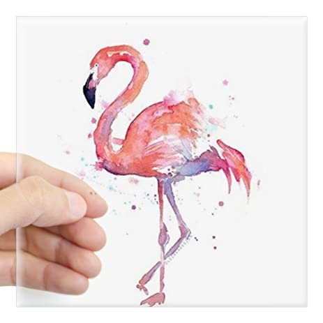 Cafepress flamingo sticker square bumper sticker car decal 3x3