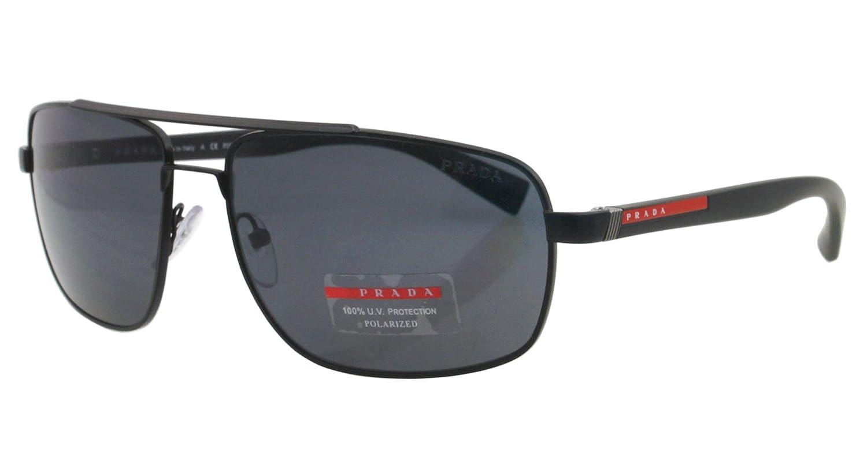 Amazon.com: Prada anteojos de sol SPS 55 N negro 1bo-5z1 ...