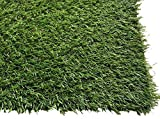 Pet Zen Garden 24inx20in 1.4-Inch Premium Artificial Grass Patch w/Drainage Holes & Rubber Backing Realistic Synthetic Mat Pet Turf Fake Dogs, 24''x20'', Green